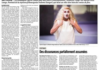 Publication d'image d'Opéra Louise dans La Liberté, 24.04.2015