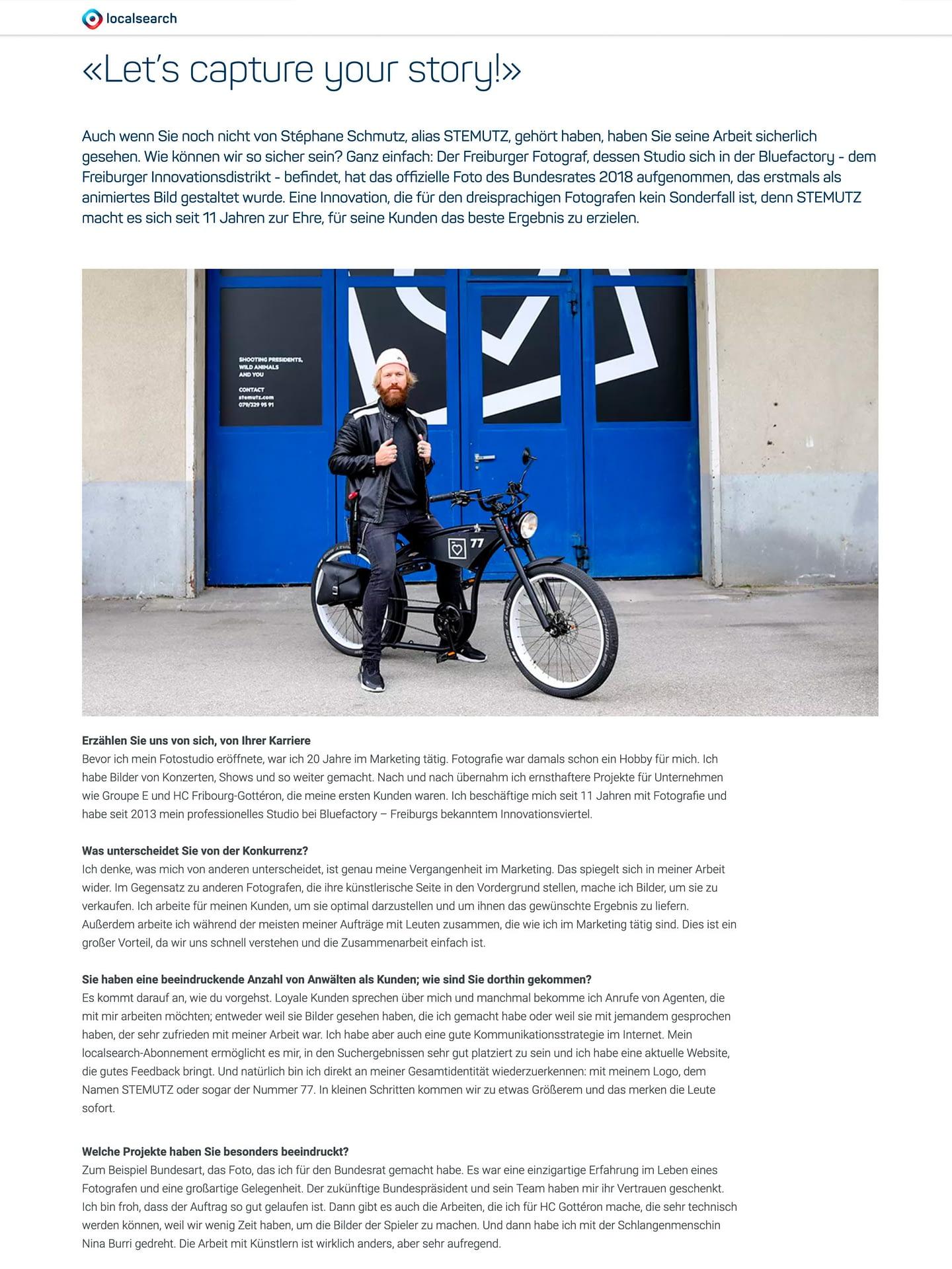 STEMUTZ Interview Localsearch Swisscom Directories
