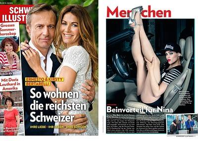 Publication of full image of Nina Burri / SCHWEIZER ILLUSTRIERTE Nr.29 07-2014!