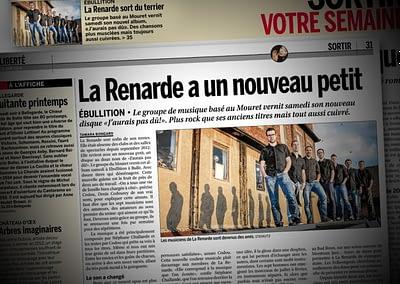 Publication d'image du groupe LA RENARDE dans La Liberté, 05.06.2014