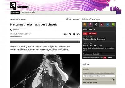 Kassette on SRF Website © Stéphane Schmutz - STEMUTZ.COM