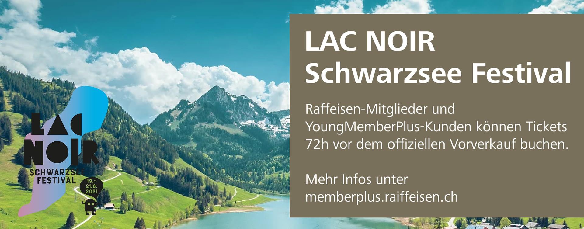 Raiffeisen tease: Schwarzsee Lac Noir Festival by STEMUTZ, 01.06.2021