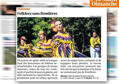 Publication d'image RFI dans Le MATIN Dimanche (486'000 lecteurs)