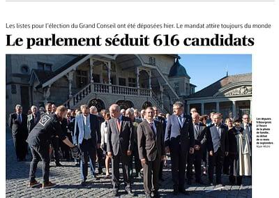 Article La Liberté ... Le Grand Conseil Fribourg 2016 par STEMUTZ PHOTO photographe Fribourg