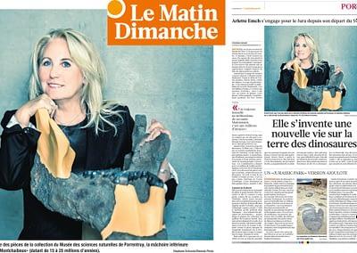 Portrait of Arlette-Elsa Emch, Le Matin Dimanche, 19.01.2014