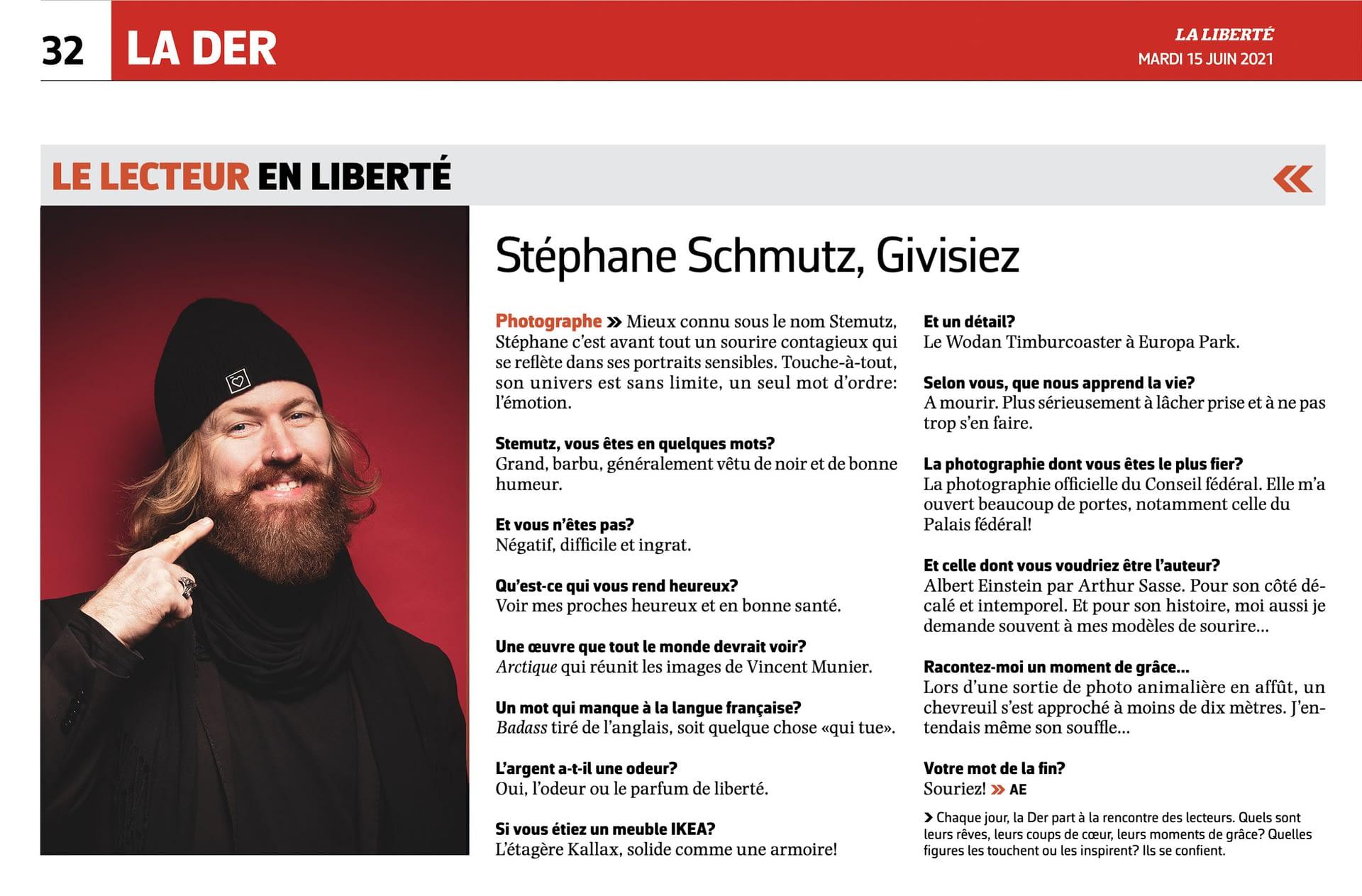 Stemutz - Stéphane Schmutz, Givisiez - Lecteur en Liberté 15 juin 2021