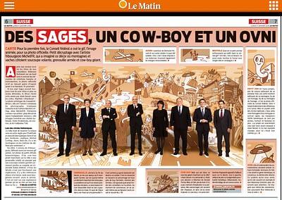 Presse: Le Matin ... BUNDESART - La photo officielle du Conseil Fédéral par STEMUTZ Bundesratsfoto