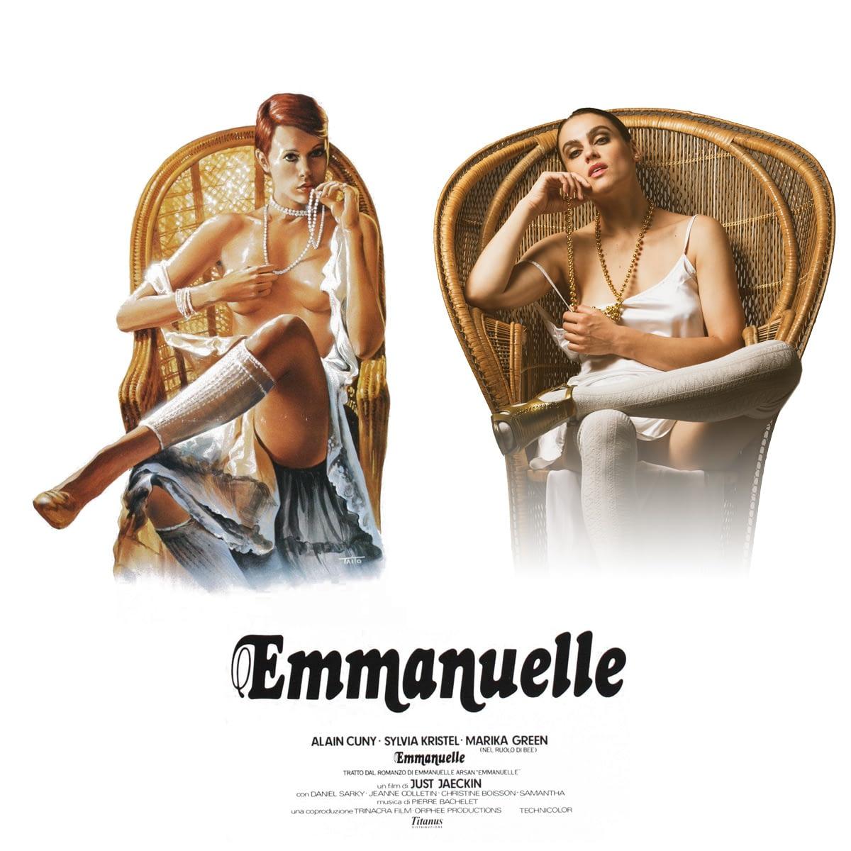 Nina Burri Emmanuelle Poster Remake by STEMUTZ