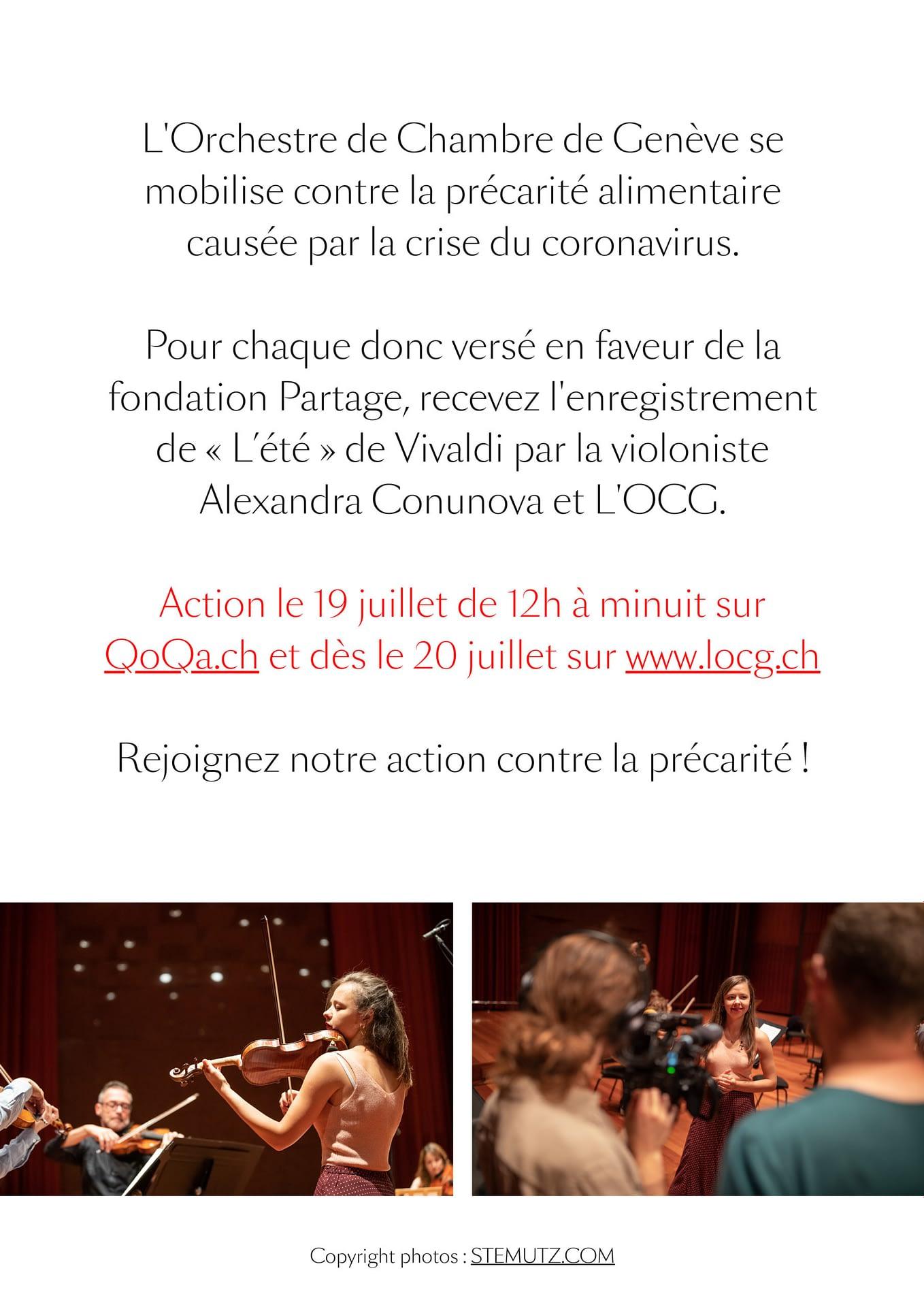 Flyer et dociments L'OCG avec Alexandra Conunova by STEMUTZ, Studio Ansermet, 01.07.2020